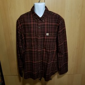 Carhartt Relaxed Fit Flannel Plaid LS Shirt